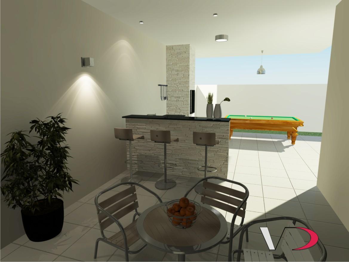 Interiores e Paisagismo: Projeto de Interiores Área de Lazer #B11A3D 1169 876