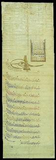 a berat of sultan mehmet 4 of ottoman empire