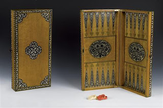 19c ottoman backgammon board