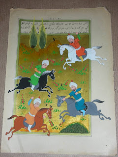 miniature of ottoman polo match