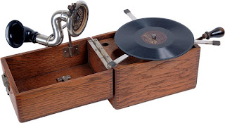 early 19c portable gramophone