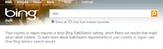 Bing Censure sexe au Maroc