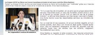 depeche Map Yasmina badou grippe