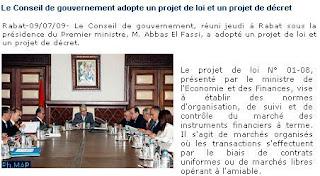 conseil gouvernement maroc map