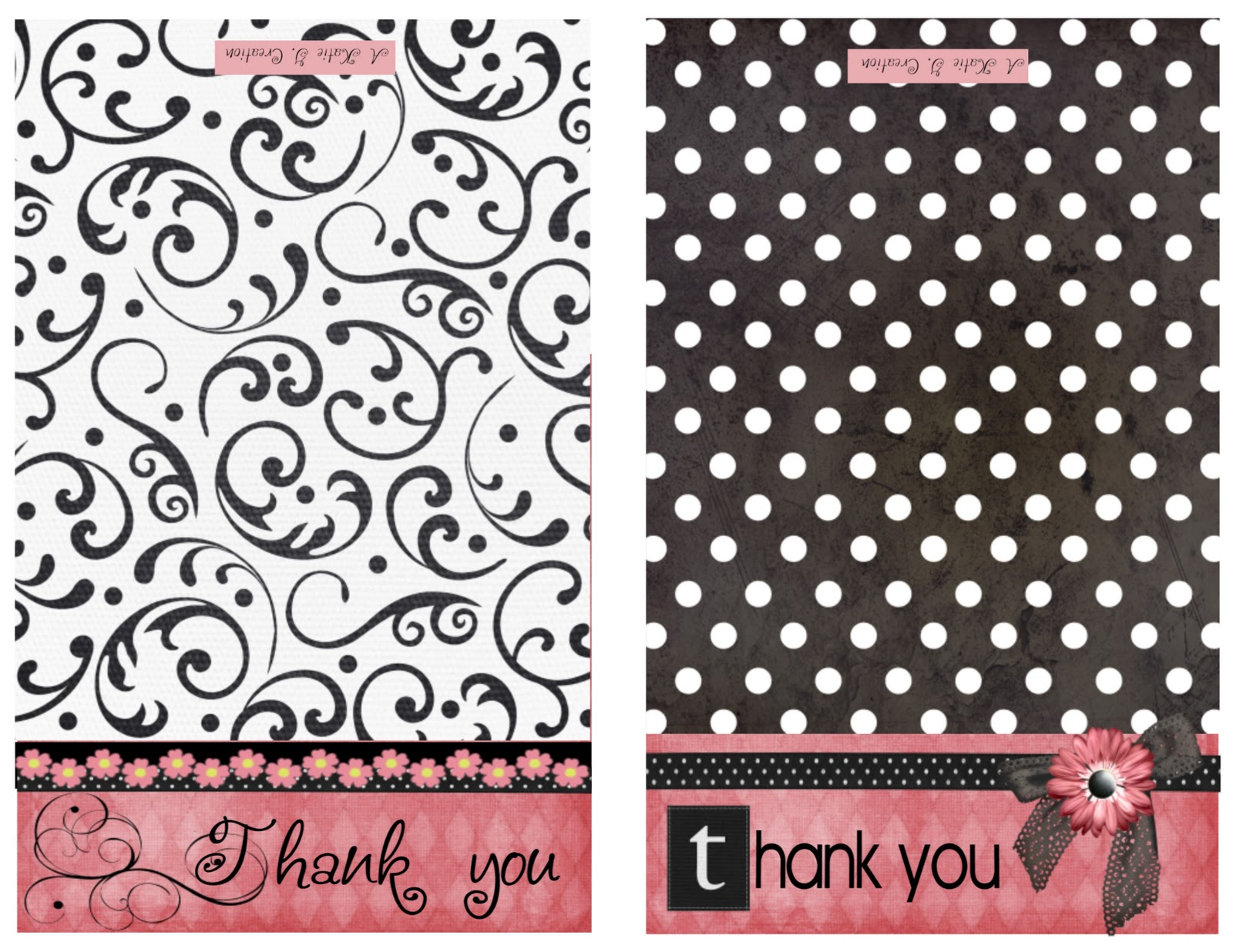 Accomplished image throughout thank you printable cards