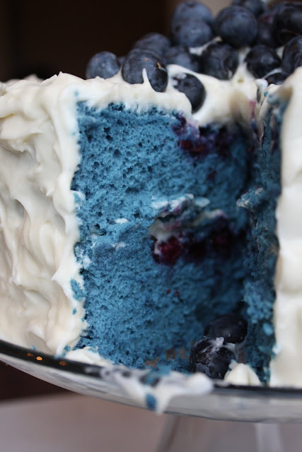 Adventures In Cooking: Blue Velvet Cake With Cream Cheese Frosting