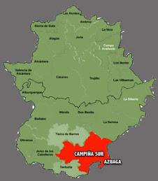 ¿Dónde está en La Campiña Sur de Extremadura?