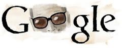 موقع جوجل يضع صورة نجيب محفوظ فى تكوين كلمة جوجل فى ذكرى ميلاده يوم 11/12/2009م.