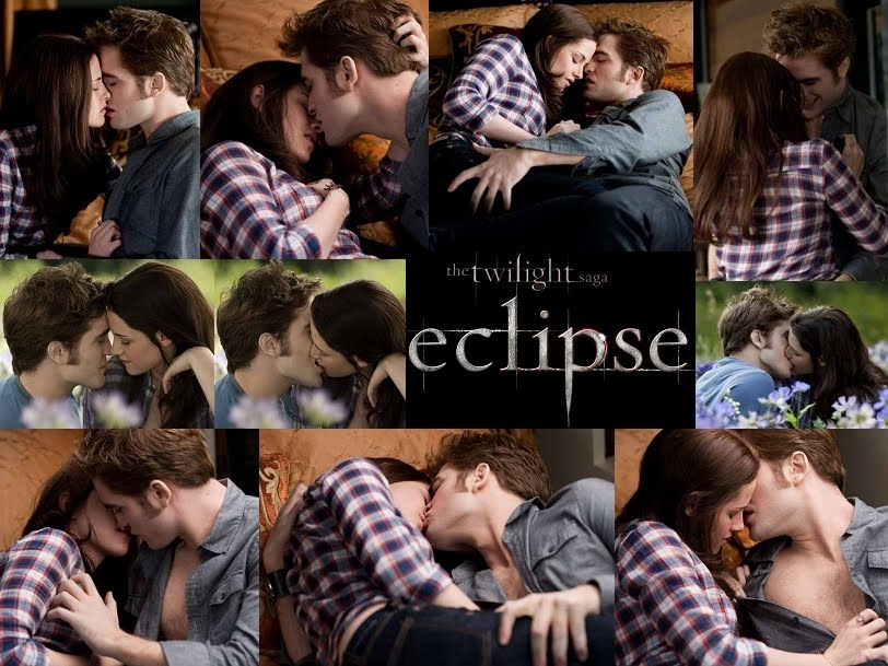 kristen stewart and robert pattinson kissing in eclipse. robert pattinson and kristen