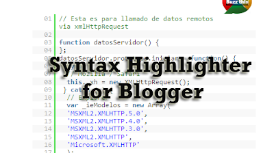 Syntax highlighter for blogger