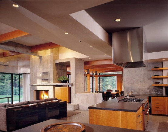 SIMPLY HOUSE DESIGN: Northwest Nature Concept With Woodway
