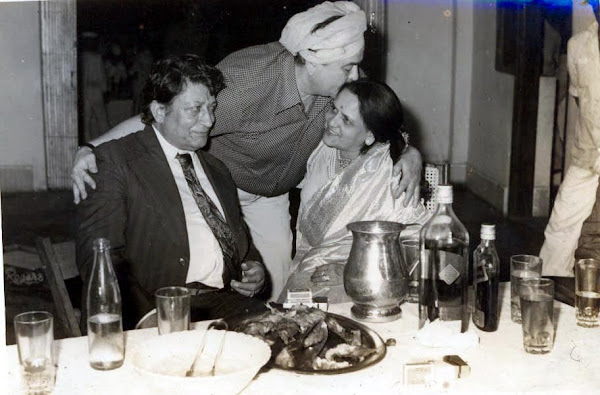 With Mr. Raj Kapoor at his son Kapils wedding - 1980