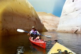 Kayaking Labyrinth Canyon in Lake Powell