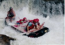 Rafting Bull Sluice on the Chattooga River