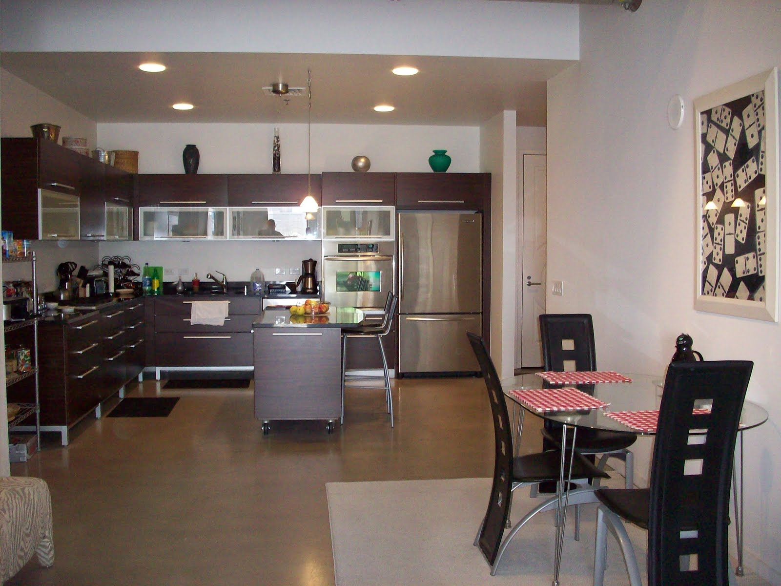 Las vegas condo 906 for temp swap or rent foyer kitchen for Kitchen and dining room