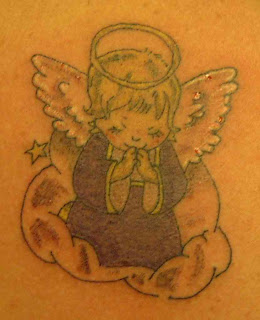 Cartoon Angel Tattoo