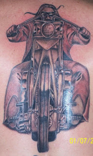 Easy Rider Motorcycle tattoo design
