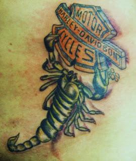 Harley Davidson Scorpion Biker Tattoo