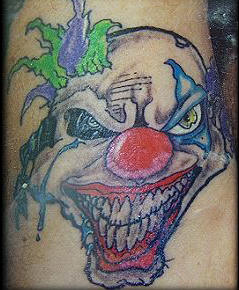 Evil Laughing Clown Tattoo