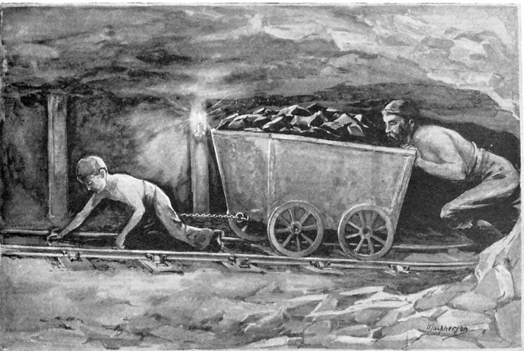 Industrial Revolution Child Coal Mine In
