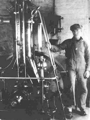 Bent Hansen - Den gule smed, Frøslev Mølle omkring 1920 - klik for større billede