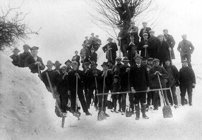 Snekastere i Hellested 1929 - klik for større billede
