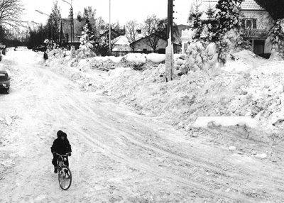 Møllevej, Store Heddinge, vinter 79 - klik for større billede