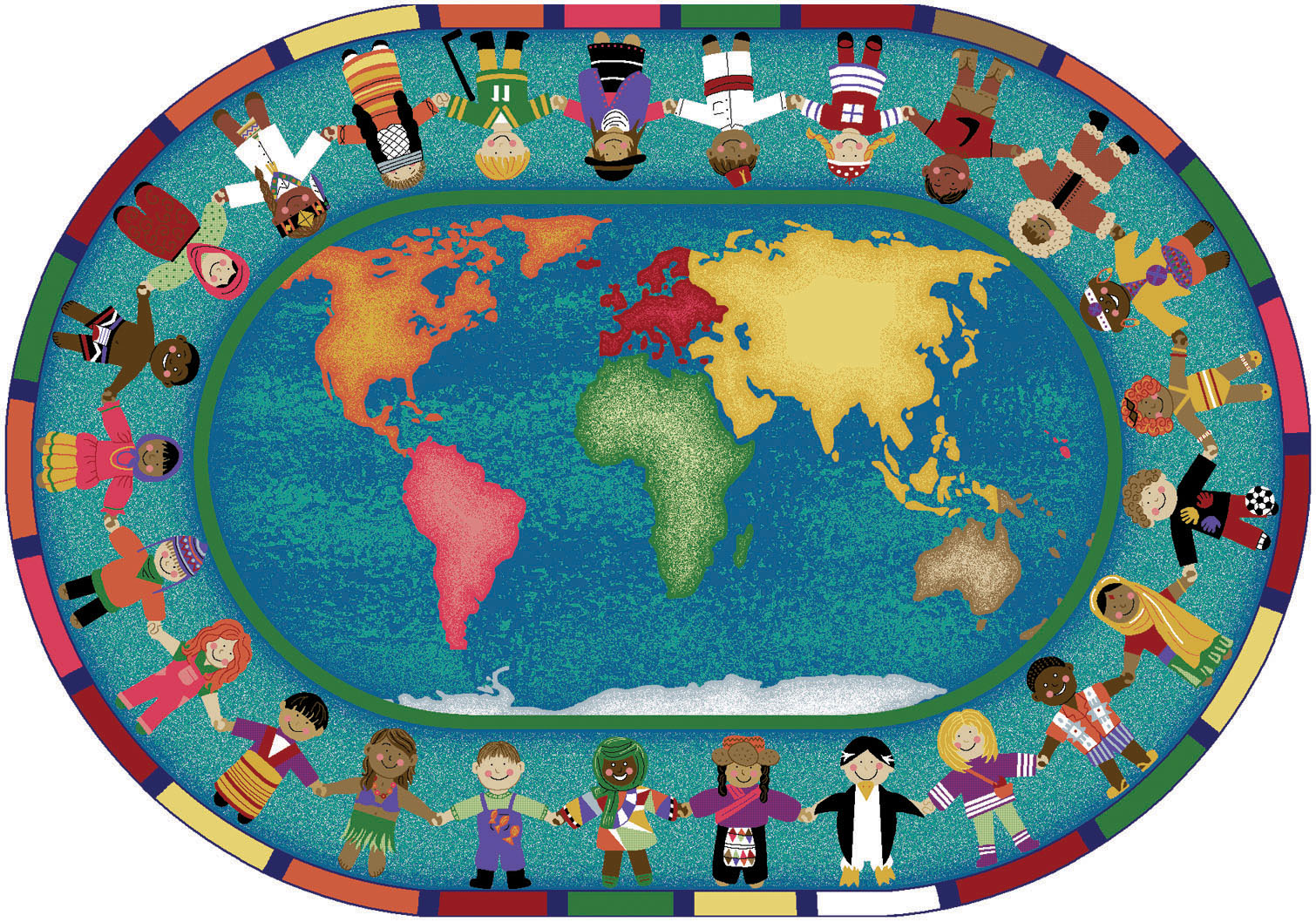Hands around the world clipart 020911 vector clip art for Art from around the world