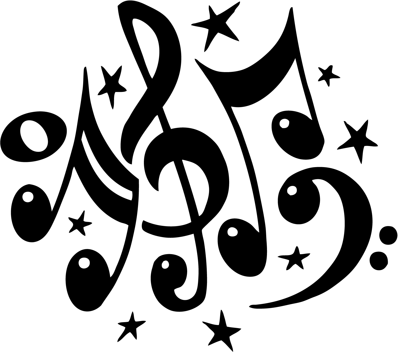 Free Music Notes Clip Art | New Calendar Template Site