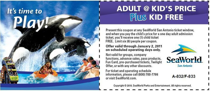 Seaworld california discount coupons