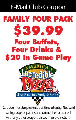 Incredible pizza printable coupons