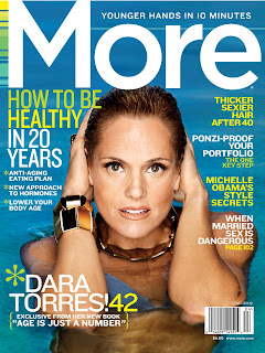 Dara Torres on April Cover of MORE Magazine