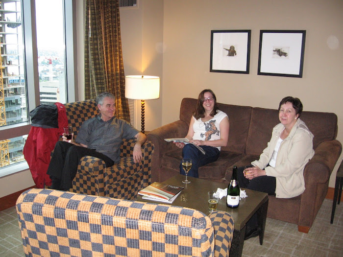 J, Mum & Dad In Hotel Room