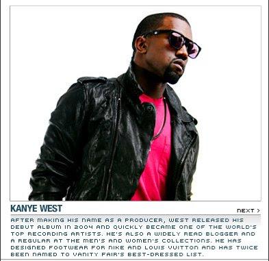 yegq Kanye Lists His 10 Essentials