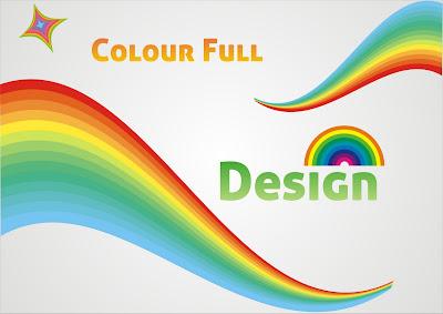 rainbow colourful design width=