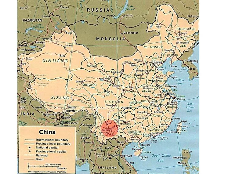 Elijah's home town - Kunming