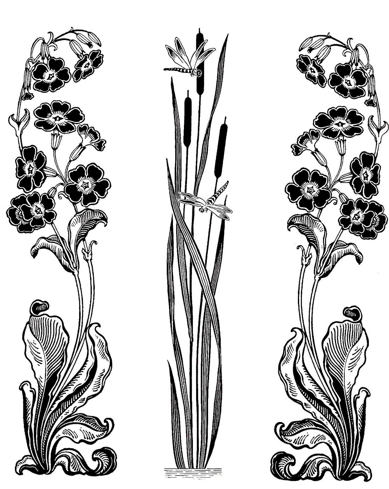 Art Nouveau Deco On Pinterest Flower Graphic Design