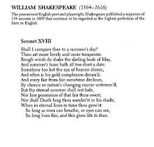 W. SHAKESPEARE - SONNET XVIII