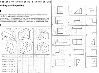 orthographic projection exercises with answers pdf