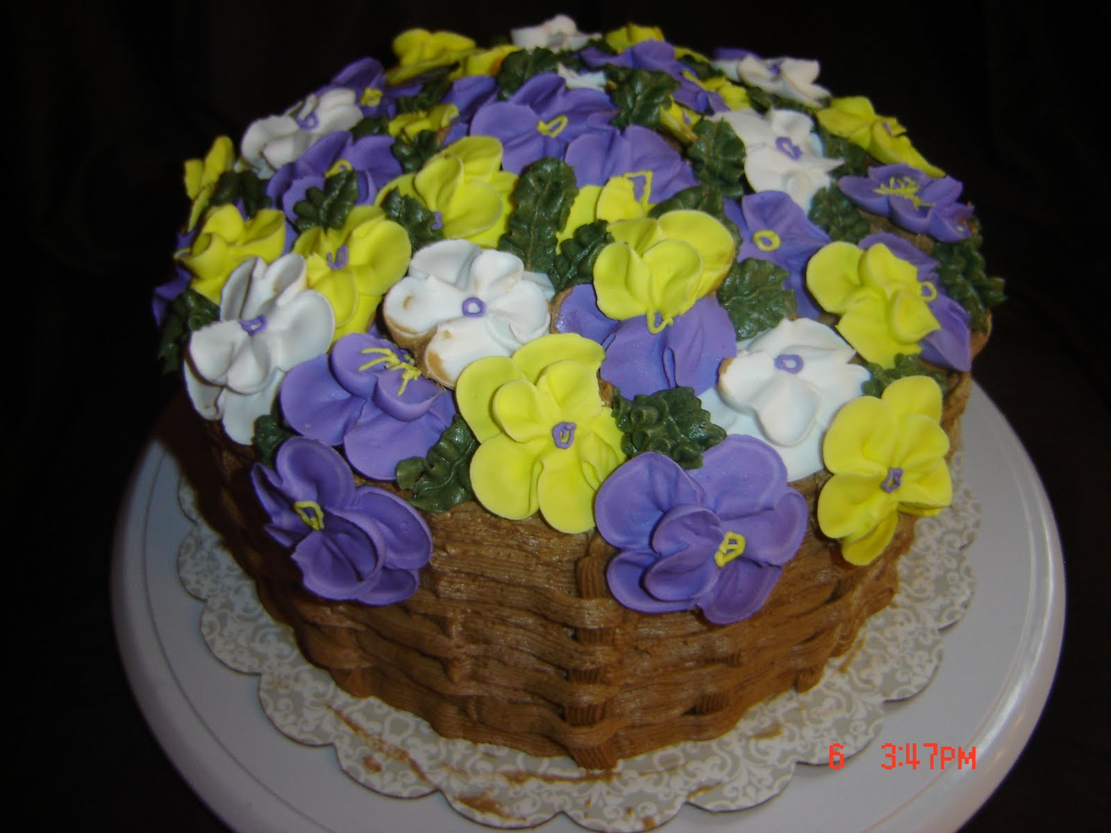 How To Make A Basket Of Flowers Cake : Sweet creations by katie flower basket cake
