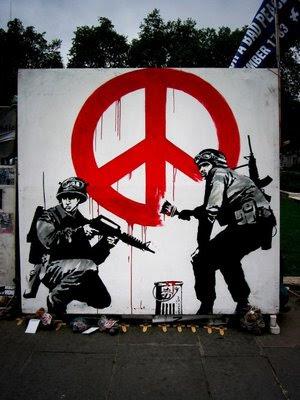 La palabra paz deriva del latín pax. Es generalmente definida, en sentido positivo, como un estado de tranquilidad o quietud, y en sentido opuesto como