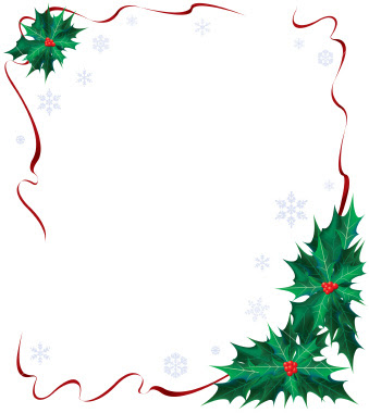 Free Christmas Ribbon Border Clip Art