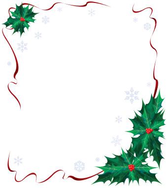 christmas ribbon borders