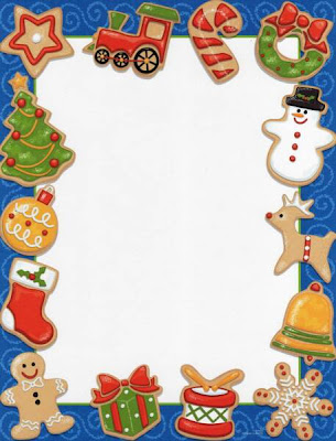 Christmas letter borders for Free christmas border templates