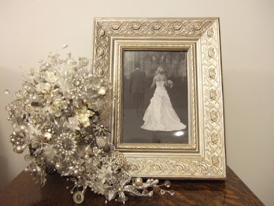 like royalty on their wedding day Crystal bouquets are a work of art