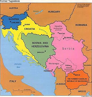 mapa de las republicas de los balcanes