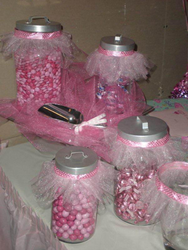 candies jars decor ideas tutu birthday parties baby shower favors
