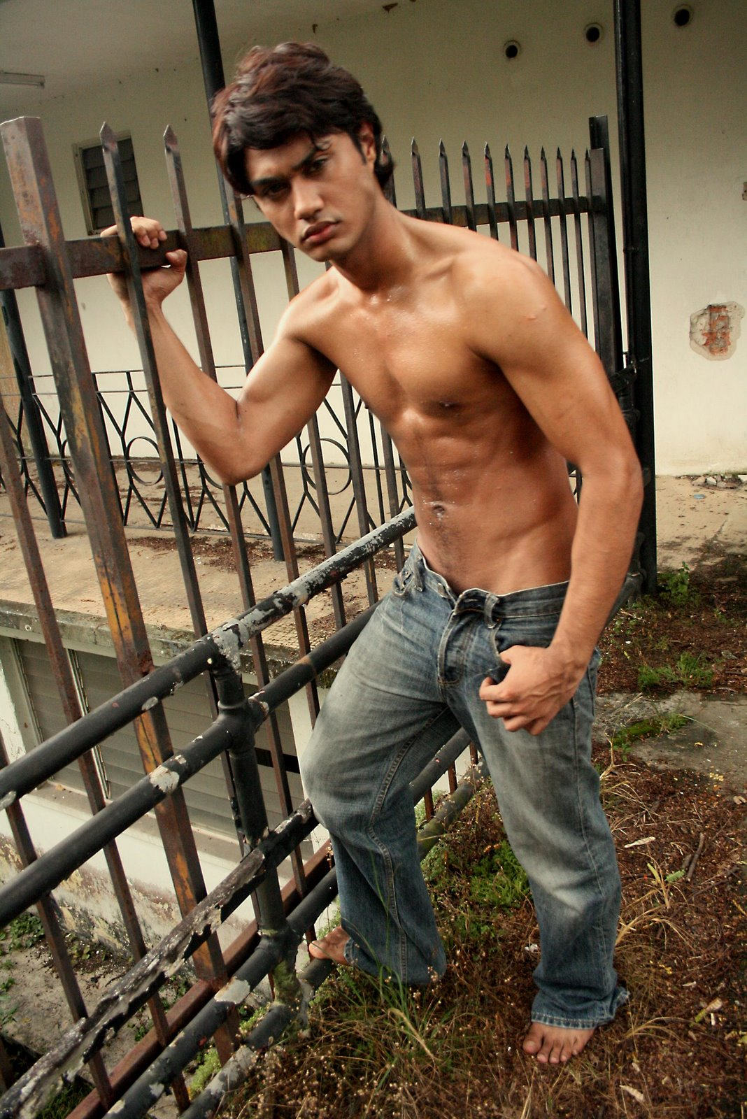 Malay nude male model