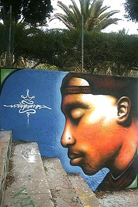 Beauty Tupac Grafitty Life