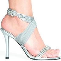 Булчински обувки и чанти ! Silver-bridal-party-shoes